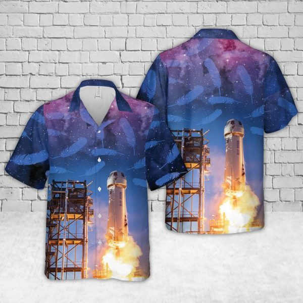 New Shepard Galaxy Blue Origin Hawaiian Shirt