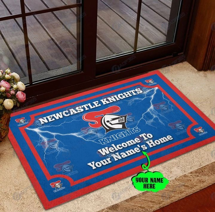 Newcastle Knights Personalized welcome to home Doormat