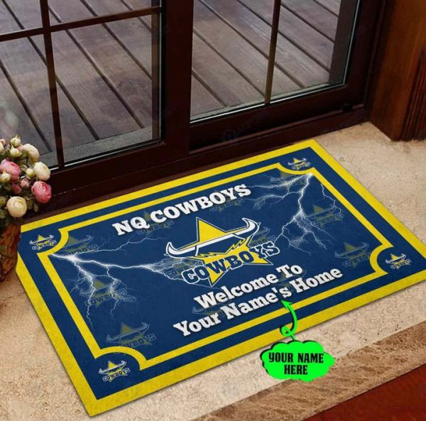 North Queensland Cowboys welcome to home Personalized Doormat
