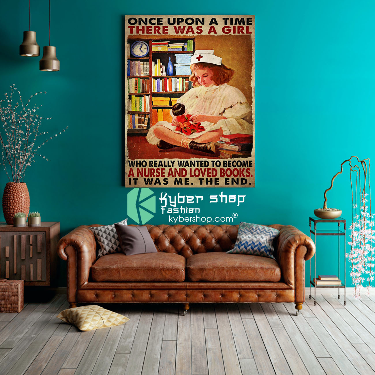 Once upon a time there was a girl who really wanted to become a nurse and loved books poster 3
