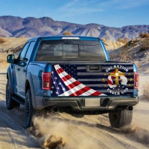One Nation Under God Truck Tailgate Decal Sticker Wrap Decal