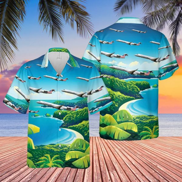 PSA Airlines Bombardier CRJ 900LR Hawaiian Shirt