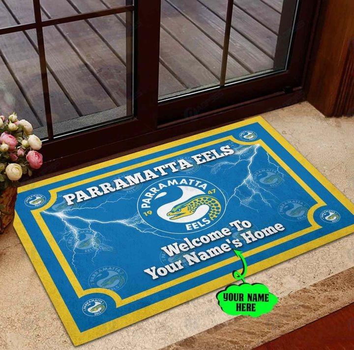 Parramatta Eels Personalized welcome to home Doormat