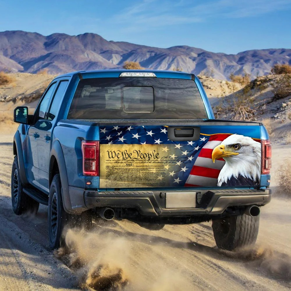 Patriotic Eagle Truck Tailgate Decal Sticker Wrap