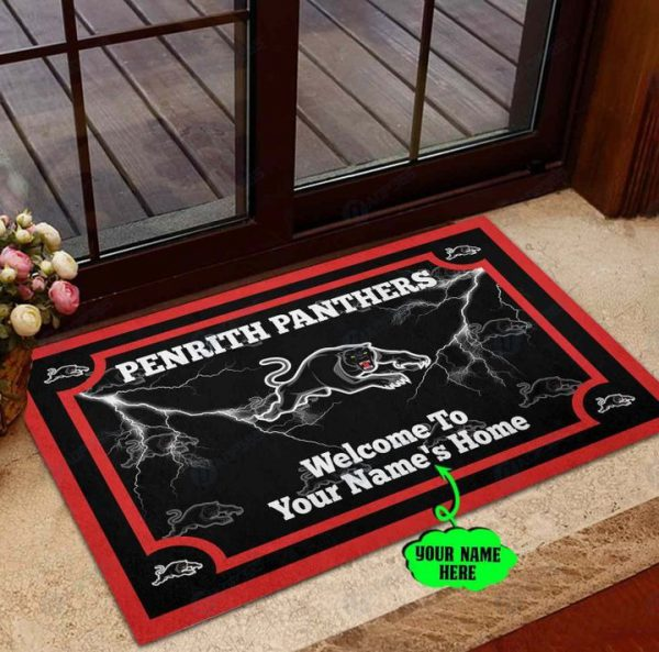 Penrith Panthers Personalized welcome to home Doormat
