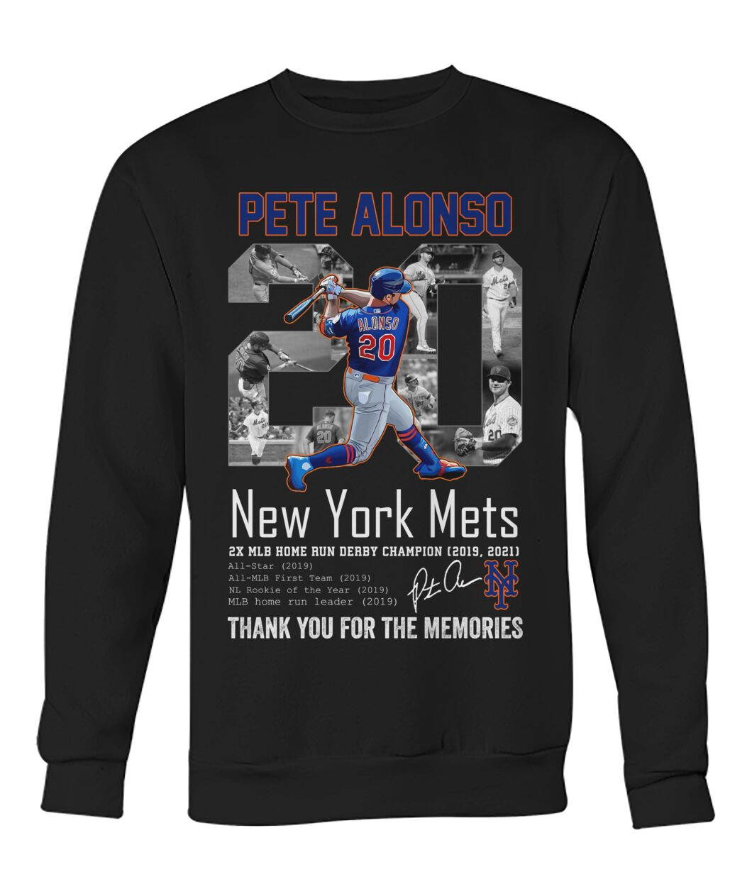 Pete alonso 20 new york mets thank you for the memories shirt 11