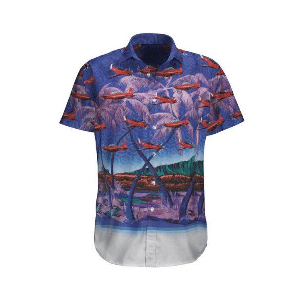 Pilatus Pc 21 Royal Australian Air Force Tropical Hawaiian Shirt And Shorts