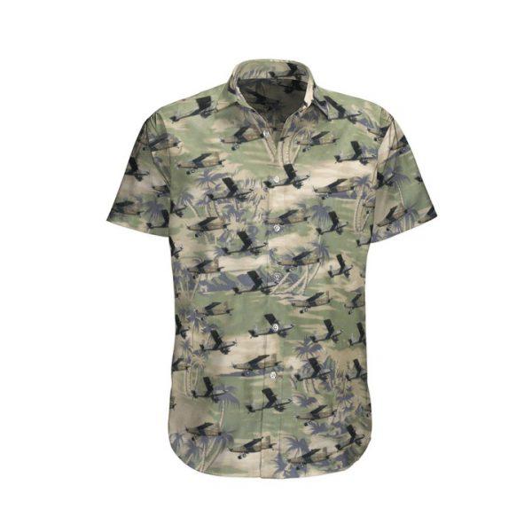 Pilatus Pc 6 French Army Hawaiian Shirt And Shorts