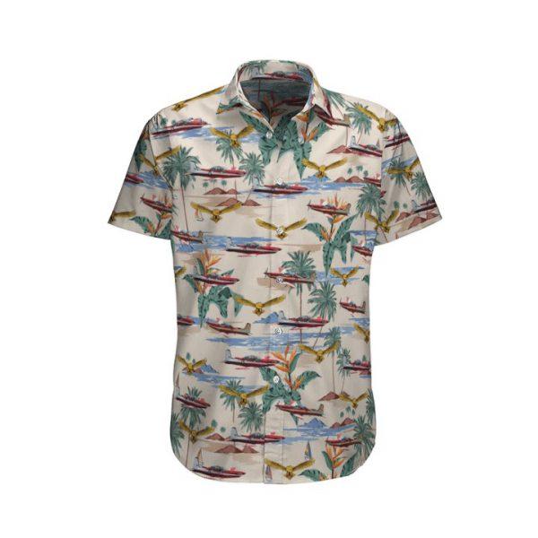 Pilatus Pc 9 Royal Australian Air Force Hawaiian Shirt And Shorts