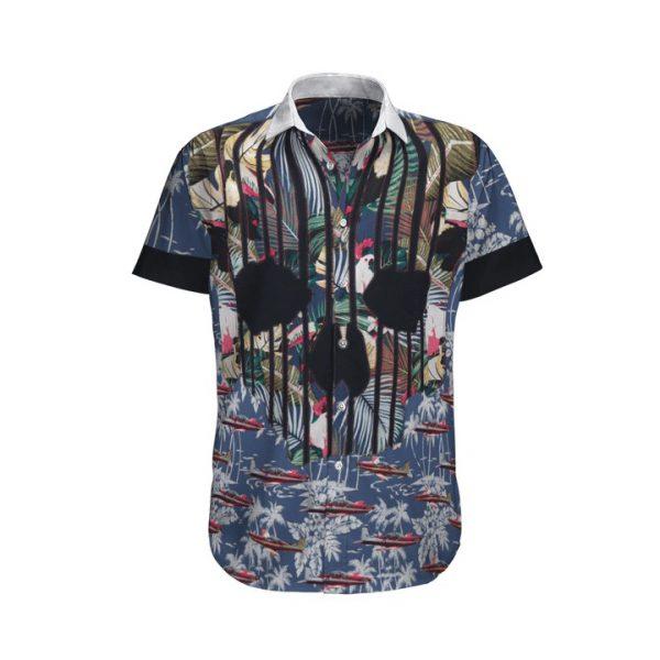 Pilatus Pc 9 Royal Australian Air Force Tropical Hawaiian Shirt And Shorts