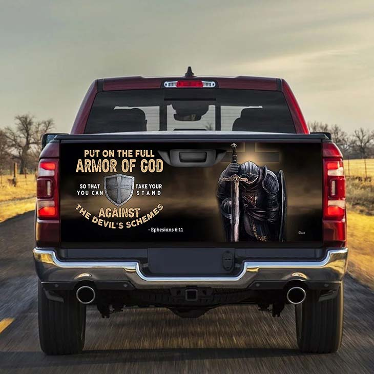 Put On The Full Armor Of God So That Take Your Stand Against The Devils Schemes Sticker Wrap