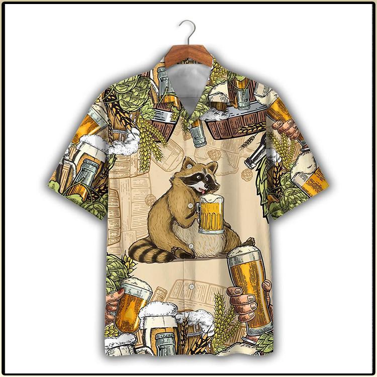 Raccoon And Beer Hawaiian Shirt And Short 3