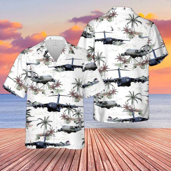 Raf Boeing C17 Globemaster Iii Uk C17 Hawaiian Shirt and short