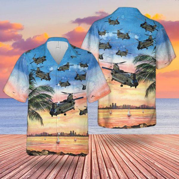 Raf Boeing Chinook Hc Mk6 Hawaiian Shirt and short