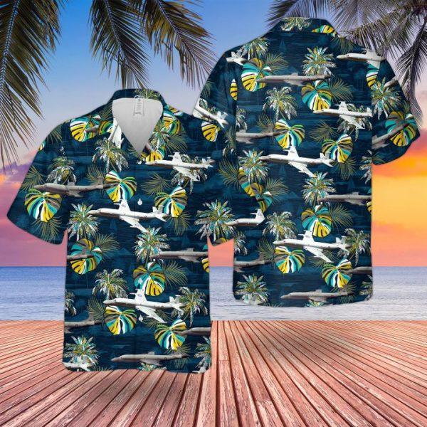 Raf British Aerospace Nimrod Aew3 Hawaiian Shirt and short
