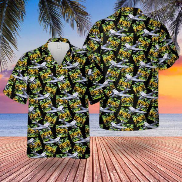 Raf Historical Hawker Hunter Hawaiian Shirt and short