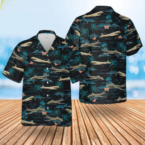 Raf Historical Nimrod Mr 2 Hawaiian Shirt and short