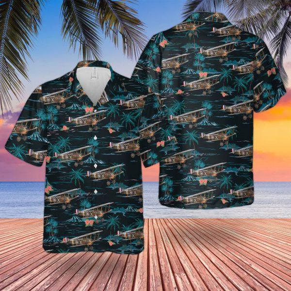Raf Historical Royal Flying Corps Sopwith Camel Hawaiian Shirt and short