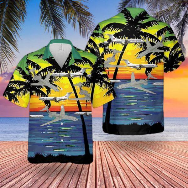 Raf Historical Vickers Vc10 Hawaiian Shirt and short