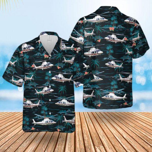 Raf Leonardo Aw109sp Grandnew Hawaiian Shirt and short