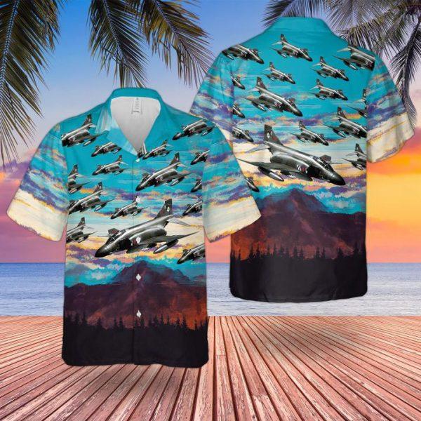 Raf Phantom Fg1 Hawaiian Shirt and short