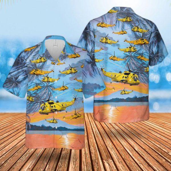Raf Westland Sea King Har3 Hawaiian Shirt and short
