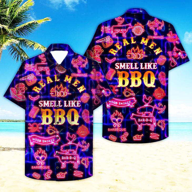 Real Men Smell Like Barbecue Hawaiian Shirt