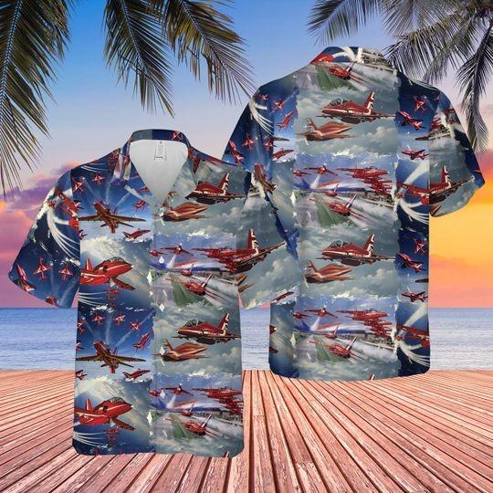 Red arrows air show hawaiian shirt 1 1