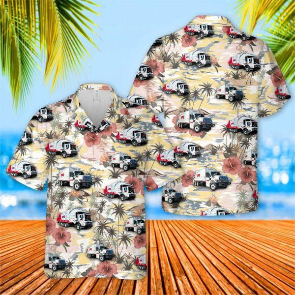 Rumpke Waste And Recycling Truck Hawaiian Shirt