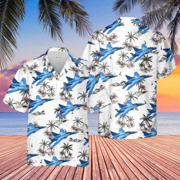 Russian Navy Mikoyan Mig 29k Hawaiian Shirt