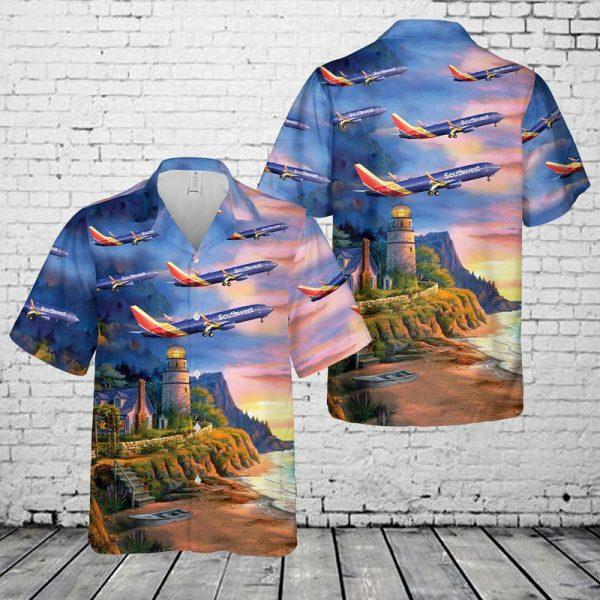 Southwest Airlines Boeing 737 800 Hawaiian Shirt 1
