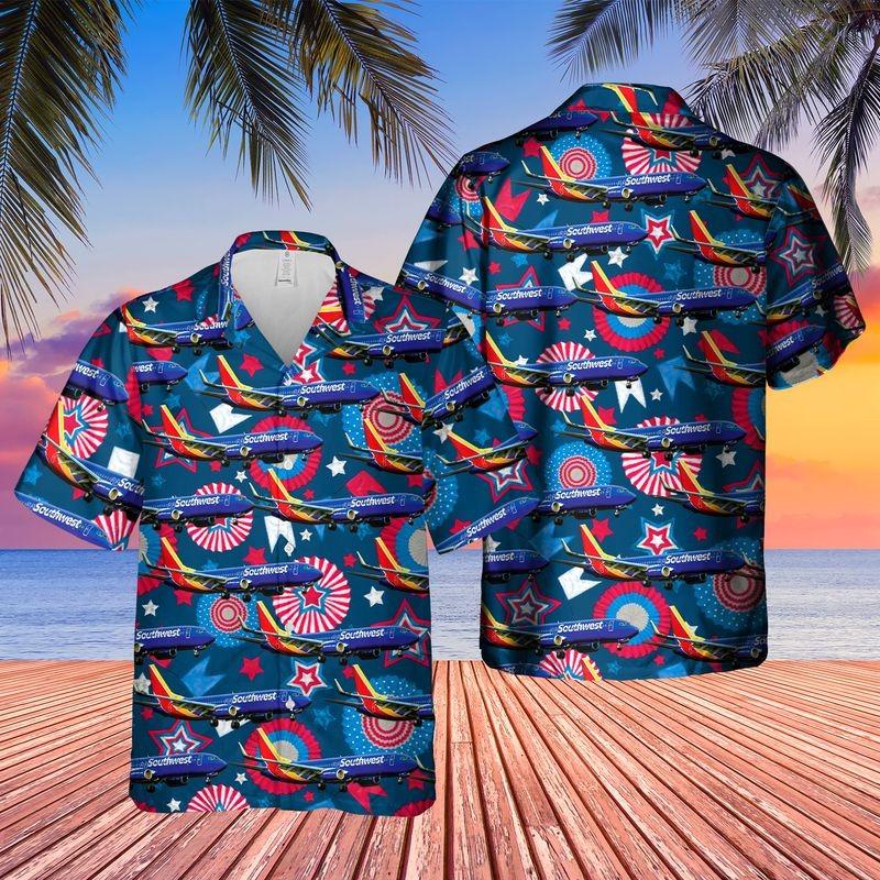 Southwest Airlines Boeing 737 800 Hawaiian Shirt