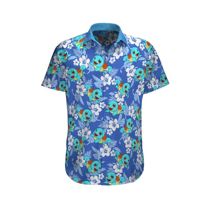 Squirtle Pokemon Hawaiian Shirt