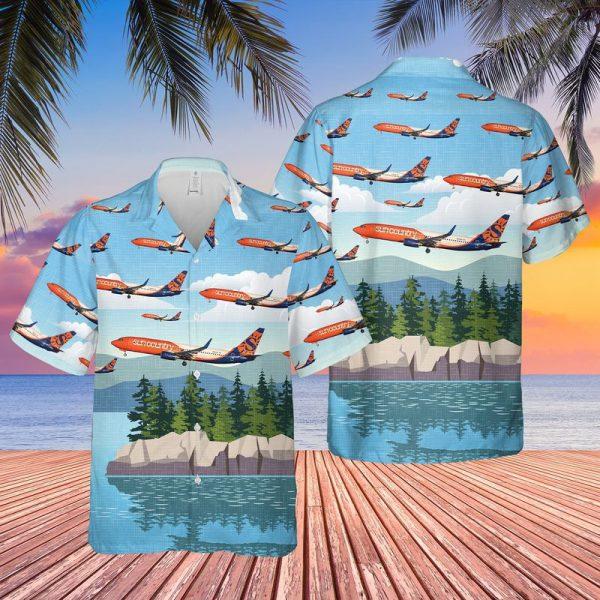 Sun Country Airlines Boeing 737 83N Hawaiian Shirt