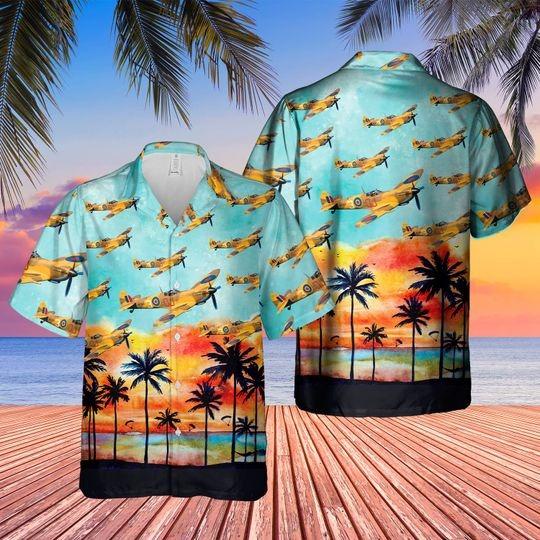 Supermarine spitfire hawaiian shirt 1 1
