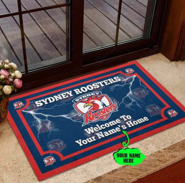 Sydney Roosters Personalized welcome to home Doormat