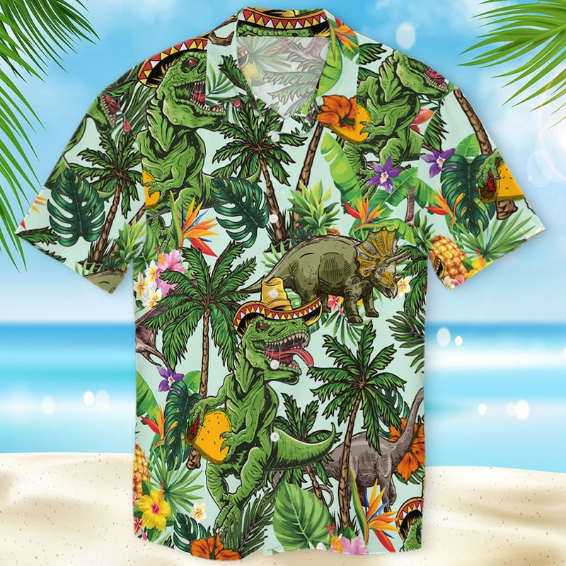 Taco T rex Hawaiian Shirt