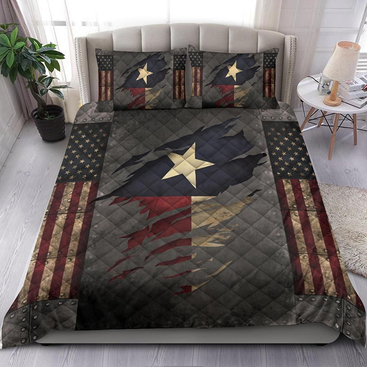 Texas American Flag Comforter Patriotic State Bedding Set