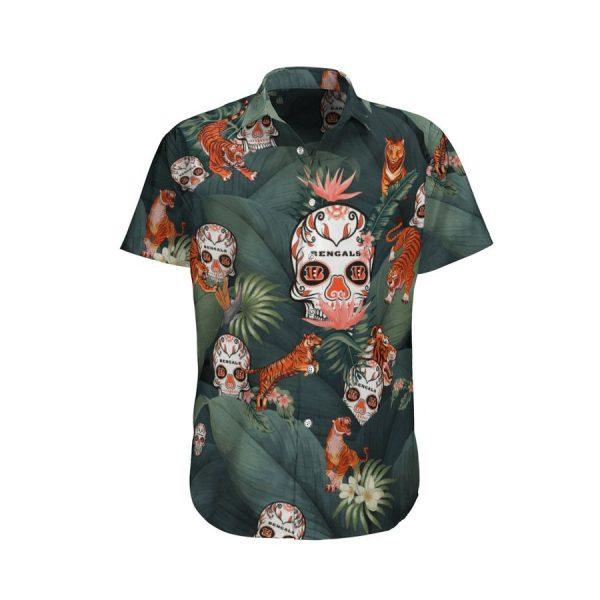 Tiger Bengals Skull Hawaiian Shirt