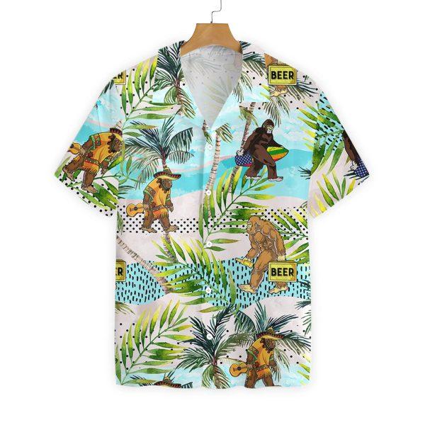 Tropical bigfoot summer hawaiian shirt