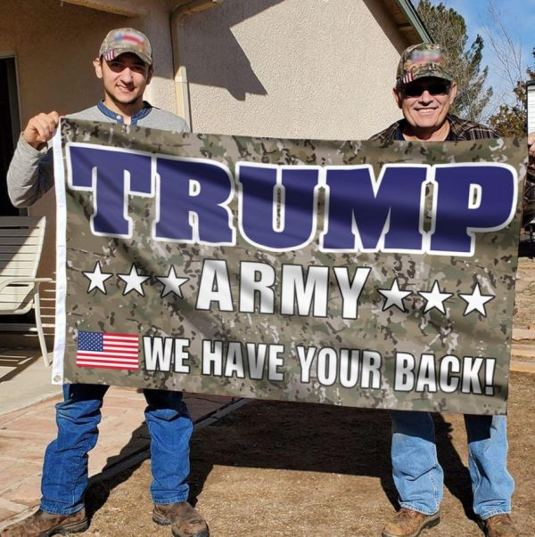 Trump Army We Have Your Back Flag