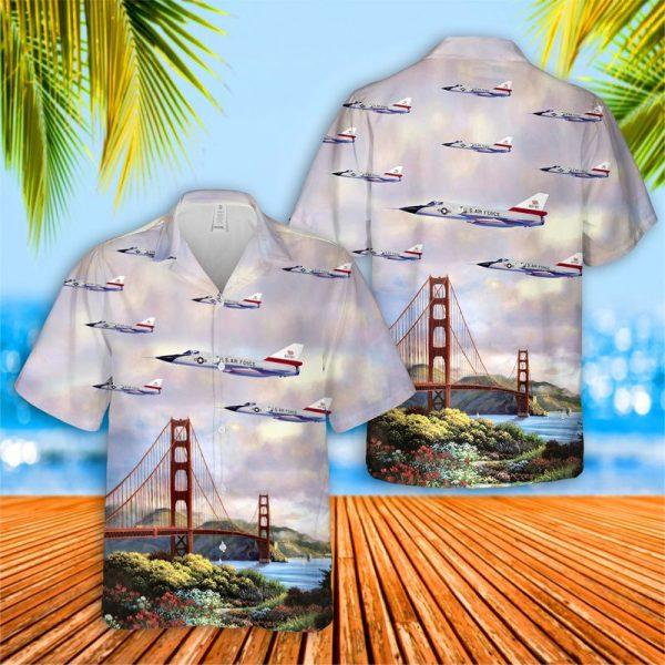 US Air Force Convair F 106A Delta Dart California Hawaiian Shirt