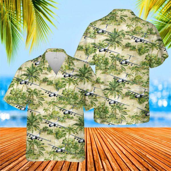 US Air Force Hanoi Taxi Lockheed C 141 Hawaiian Shirt