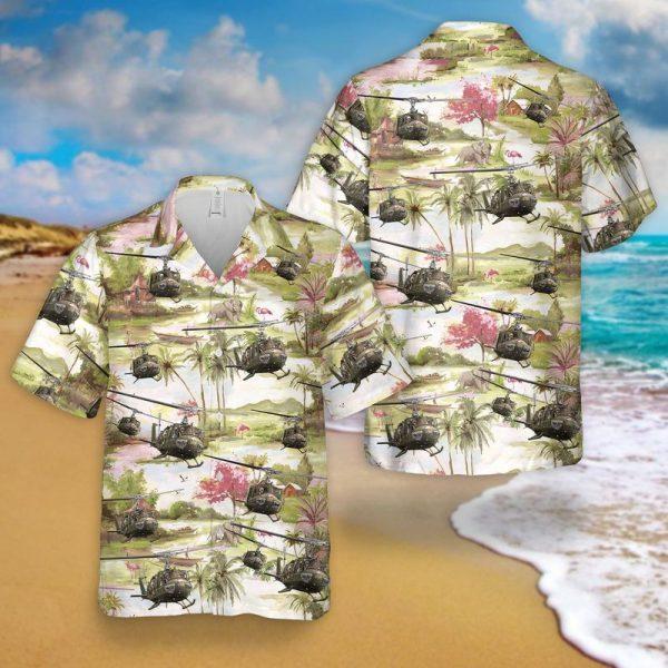 US Army Bell UH 1 Huey Hawaiian Shirt 1