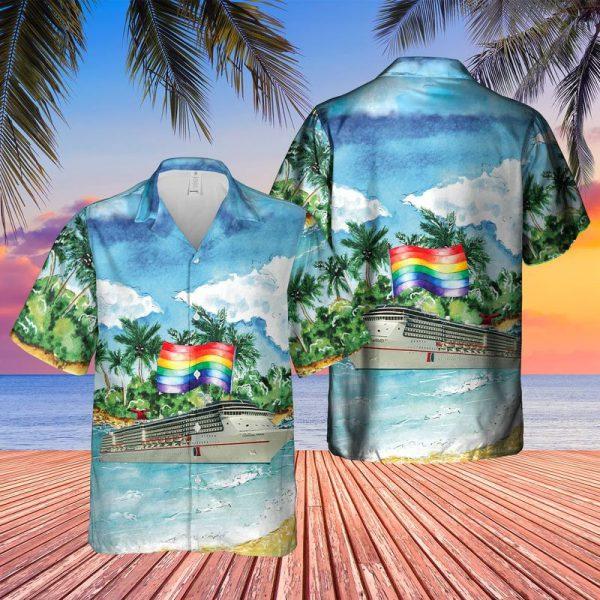 US Cruise Happy LGBT Pride Month Hawaiian Shirt