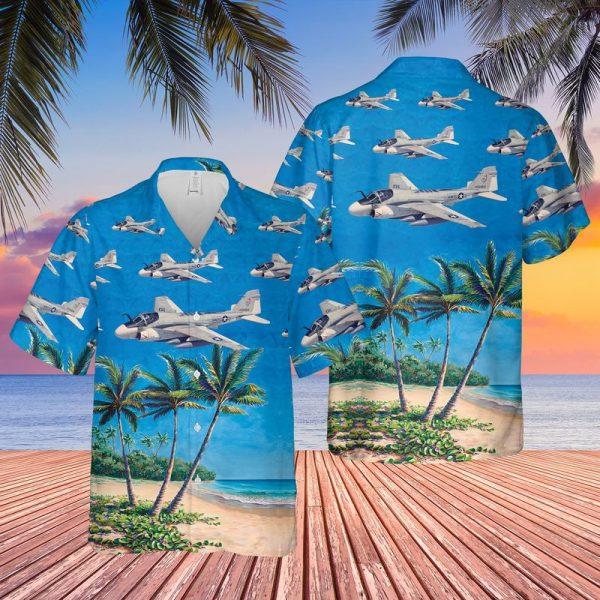US Navy Grumman A 6 Intruder Hawaiian Shirt