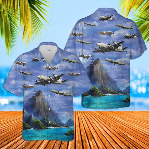US Navy Lockheed P 3 Orion Hawaiian Shirt