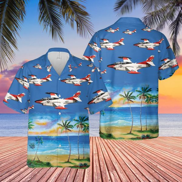 US Navy North American T 2C Buckeye Hawaiian Shirt