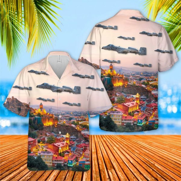 USAF 75th Fighter Squadron Tiger Sharks Hawaiian Shirt