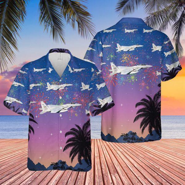 USAF Massachusetts Air National Guard 102nd Fighter Wing F15 Eagles Hawaiian Shirt